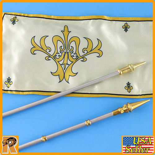 Crown Knight - Banner w/ Metal Spear - 1/6 Scale -