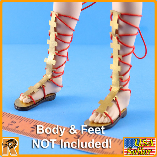 Nohime Japanese Heroine - Tie Up Sandals - 1/6 Scale -