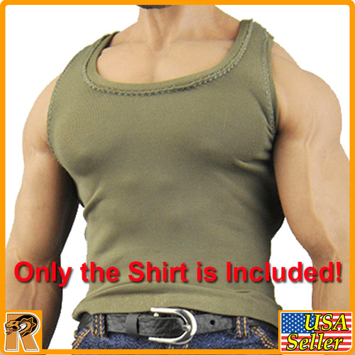 CEN-M08 - Mens Green Muscle Shirt #3 - 1/6 Scale -