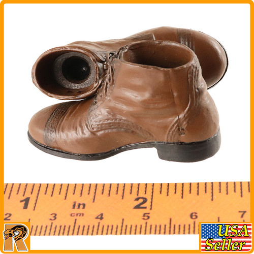 V1017 - Brown Boots (for Pegs) - 1/6 Scale -