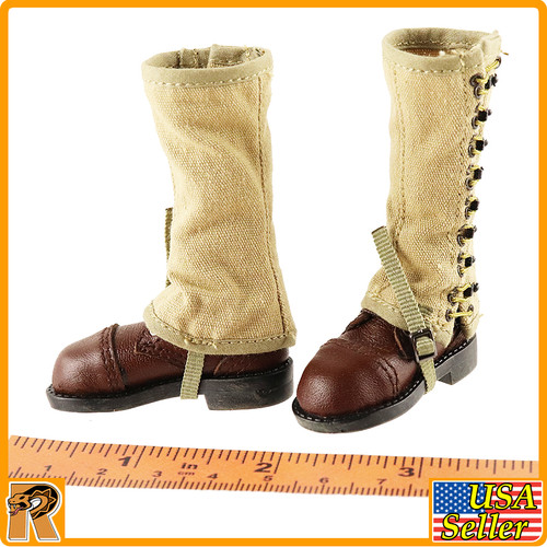 US Ranger Captain Miller - Boots & Leggings - 1/6 Scale -