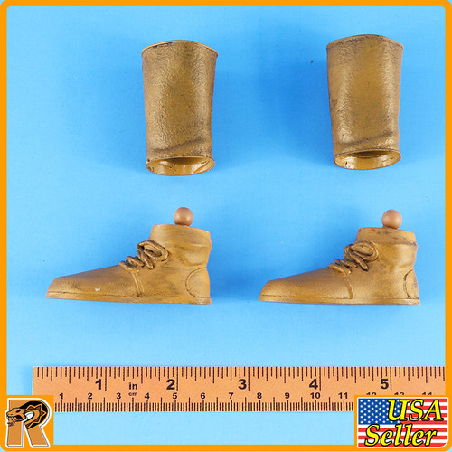 Persian Empire Soldier - Boots & Metal Leggings - 1/6 Scale -