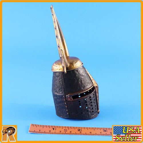 Crusader Knight Teutonic - Metal Helmet - 1/6 Scale -