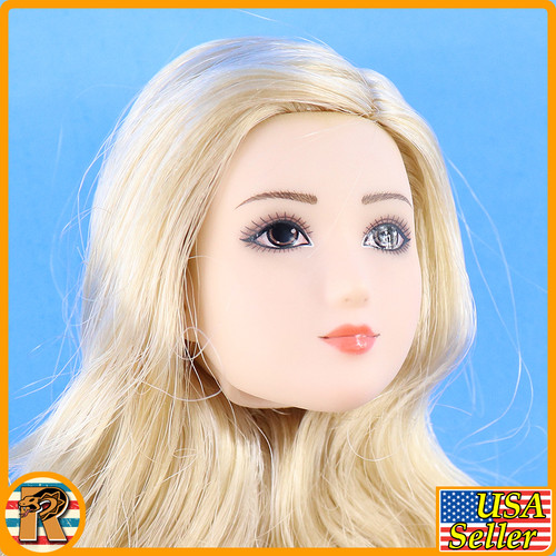 Anime Girls S36 S37 - Head w/ Blonde Rooted hair #2 - 1/6 Scale -