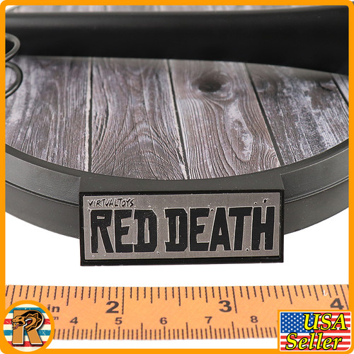 Red Death Wilderness Rider - Display Base - 1/6 Scale -