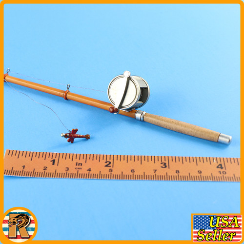 Red Death Wilderness Rider - Fishing Pole Rod & Wheel - 1/6 Scale -