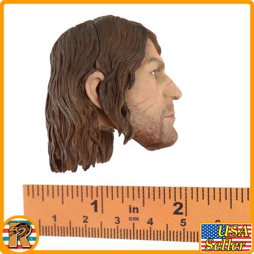 Red Death Wilderness Rider - Head w/ Long Hair #2 - 1/6 Scale -