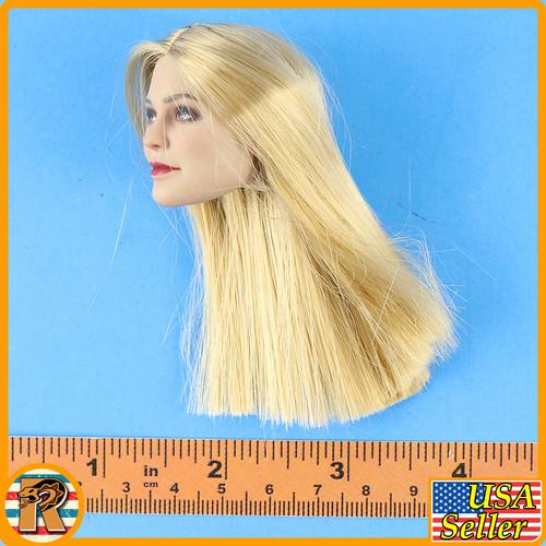 Female SS Officer - Blonde head (Long Hair) #2 - 1/6 Scale -