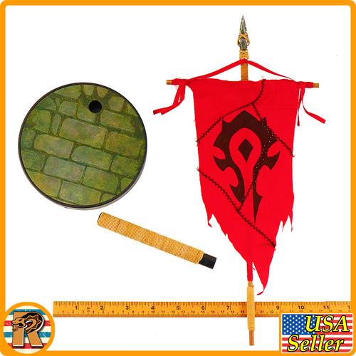 Garona Halforcen Female Orc - Banner Display Base - 1/6 Scale -