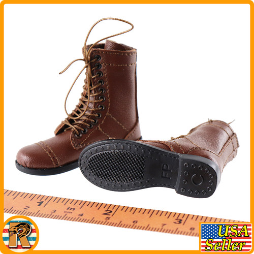 Easy Company Platoon Leader - Leather Boots - 1/6 Scale -