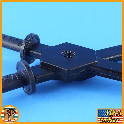 Lady Katana - Metal Samurai Swords Set - 1/6 Scale -