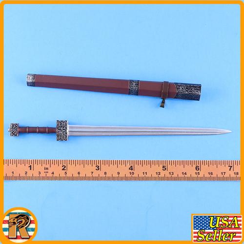 Qin Army Zhao Kuang - Metal Gladius Sword  - 1/6 Scale -