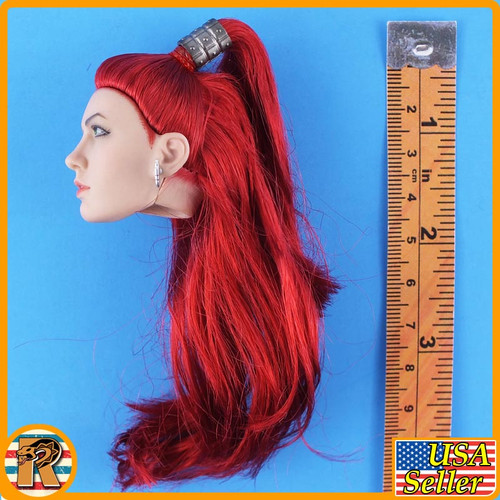 Tricity Goddess of Lightning - Head w/ Red Rooted Hair - 1/6 Scale -