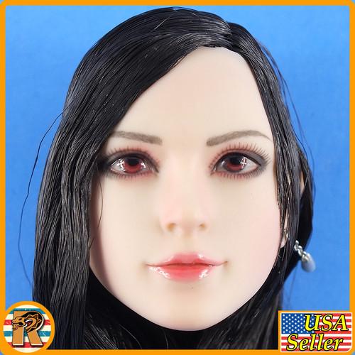 Fantasy Fighting Goddess - Head w/ Long Hair & Earing - 1/6 Scale -