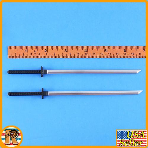 Snake Eyes - 2 Swords & Backpack - 1/6 Scale -