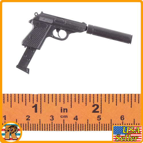 Agent Killer - Walther Pistol w/ Silencer - 1/6 Scale -