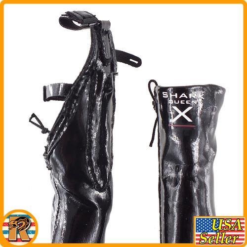 Raider Lillian Shark Queen - High Boots (for Pegs) - 1/6 Scale -