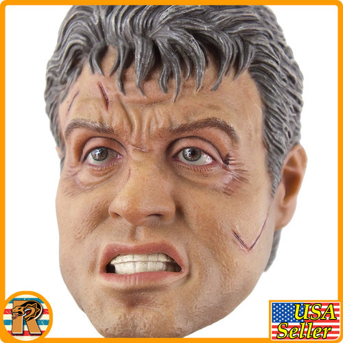 Rambo Last Blood - Angry Head Sculpt #2 - 1/6 Scale -