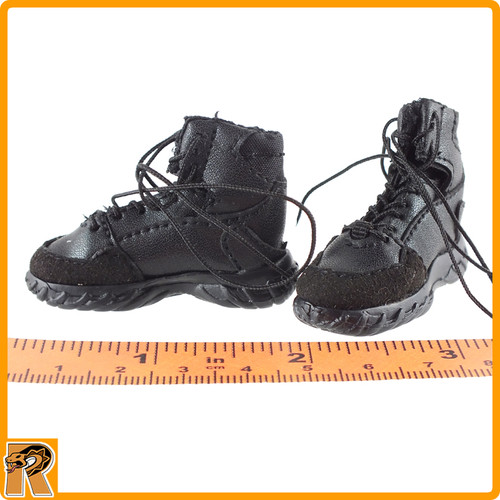 Quarantine Zone Agent - Black Boots (for Feet) - 1/6 Scale -