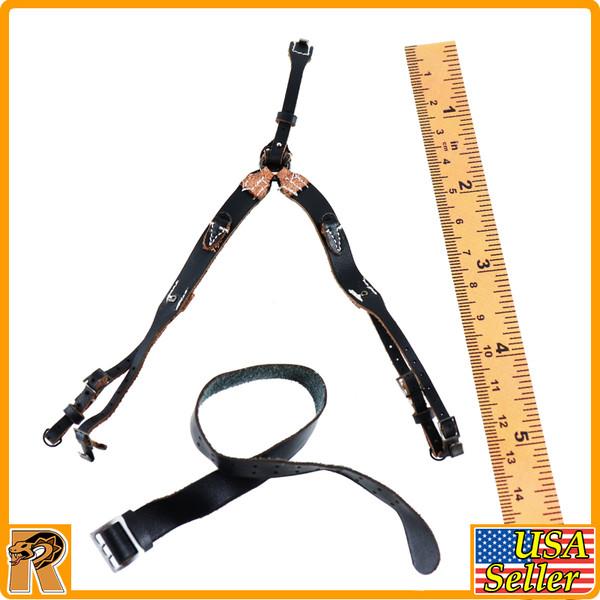 Major Erwin Konig - Leather Belt & Y Strap - 1/6 Scale -