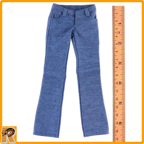 Mary Jane - Light Blue Jeans Pants #1 - 1/6 Scale -