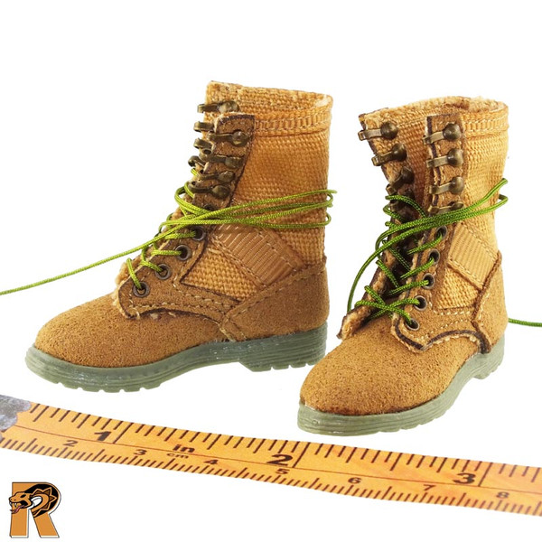 CT014 Military Female - Boots (for Feet) - 1/6 Scale -