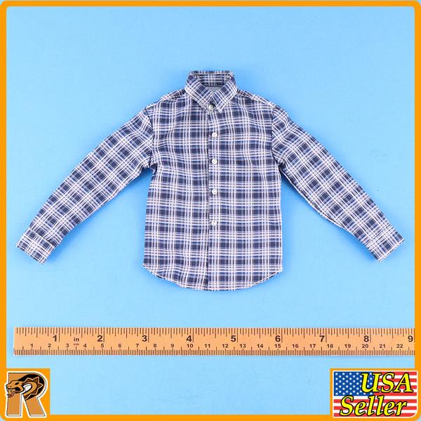Parker Field Trip 1016A - Blue Check Shirt #2 - 1/6 Scale -