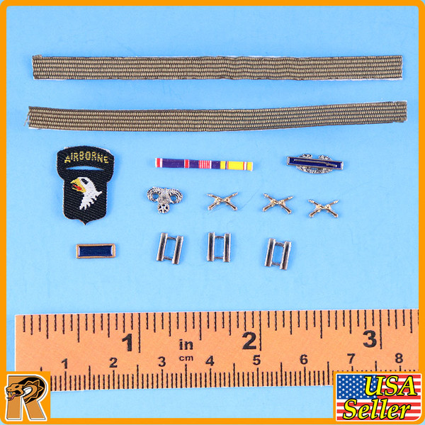 WWII US Army Officer A - Medals & Patches (Metal) - 1/6 Scale -