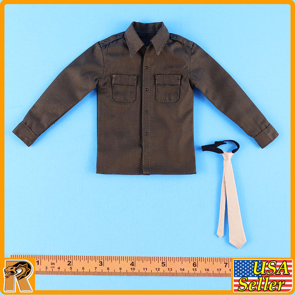 WWII US Army Officer A - Shirt & Tie - 1/6 Scale -