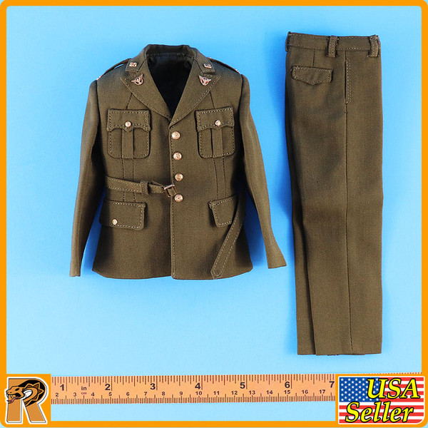WWII US Army Officer A - Uniform Set (Metal Badges) - 1/6 Scale -