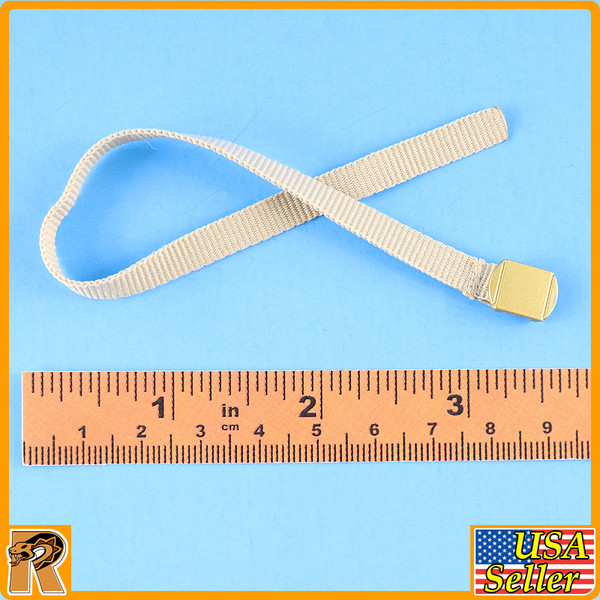 WWII US Army Officer B - Dress Belt (Cloth & Metal) - 1/6 Scale -