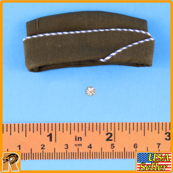 WWII US Army Officer B - Side Cap w/ Badge - 1/6 Scale -