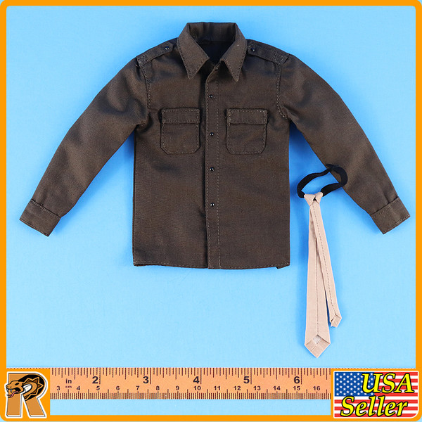 WWII US Army Officer B - Shirt & Tie - 1/6 Scale -