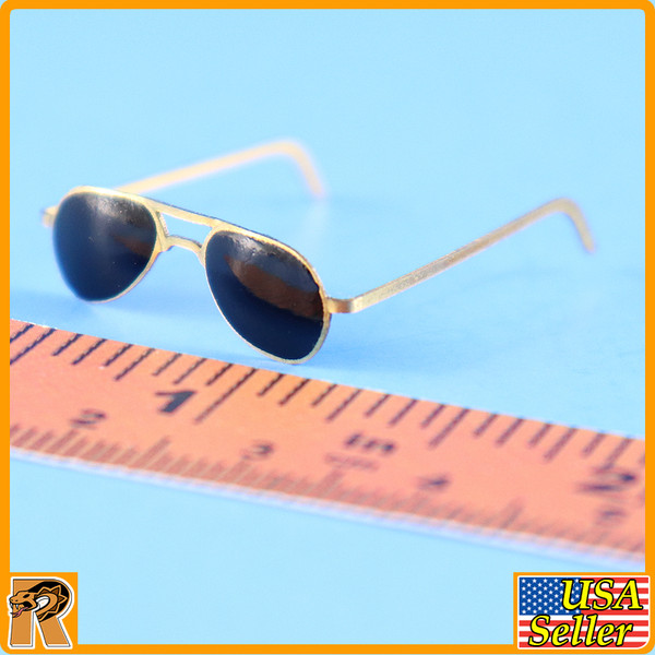 WWII US Army Officer B - Metal Sunglasses - 1/6 Scale -