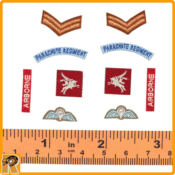 Charlie *A* Red Devils SGT - Airborne Patches Set - 1/6 Scale -