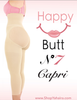 Capri Happy Butt No.7 - Double Layer Waistband Body Shaper Nude