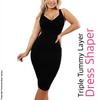 Dress Shaper Triple Tummy Layer