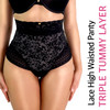 LACE HIGH WAISTED PANTY TRIPLE TUMMY LAYER