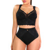 LACE MID WAIST PANTY DOUBLE TUMMY LAYER
