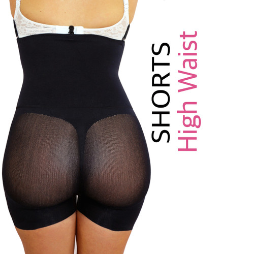 Happy Butt No.7 High Waisted Shorts Double Tummy Layer