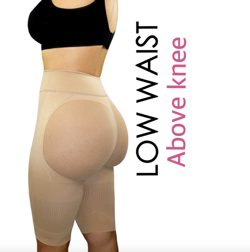 Happy Butt No.7 Low Waist  Above Knee Double Tummy Layer