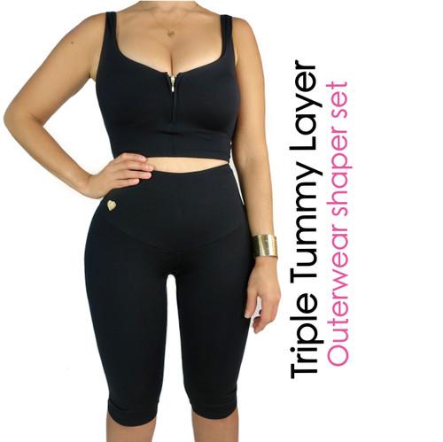Triple Tummy Layer  Outerwear Shaper Set