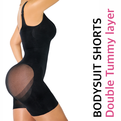 HAPPY BUTT No.7 BODYSUIT DOUBLE TUMMY LAYER SHORTS