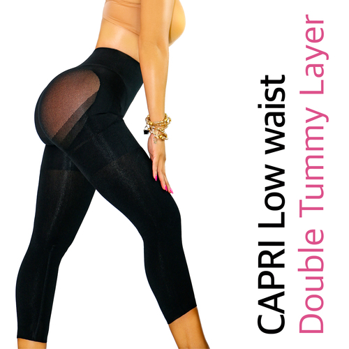 HAPPY BUTT NO.7 CAPRI LOW WAIST DOUBLE TUMMY LAYER