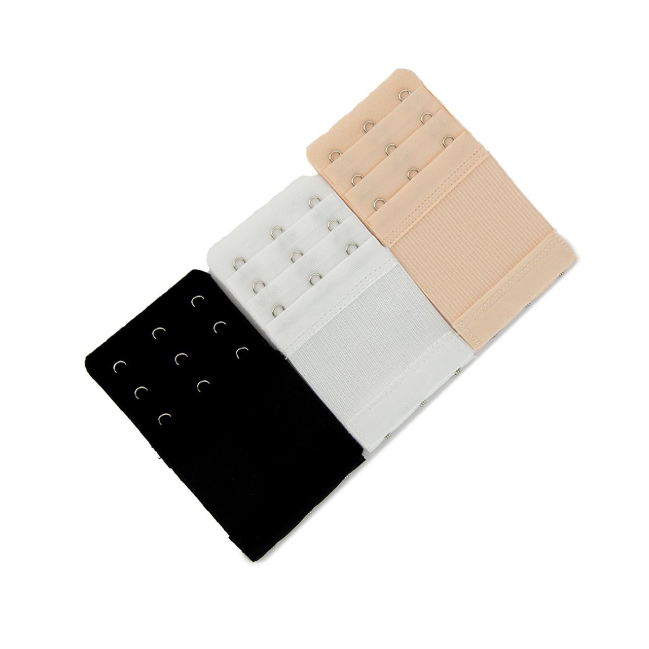 Comfort Bra Extender 4-Hook 9-pack 3 Black, 3 White, 3 Beige from MOMTL