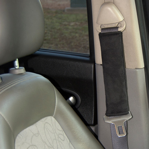 Seat Belt Cover by Seat Belt Extender Pros installed in a car
