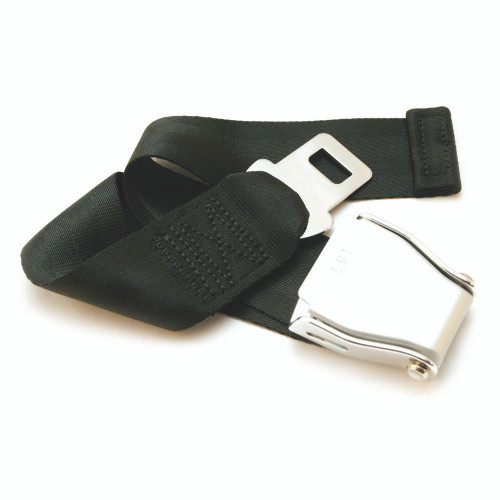 Universal Airplane Seat Belt Extender beautifully laid out