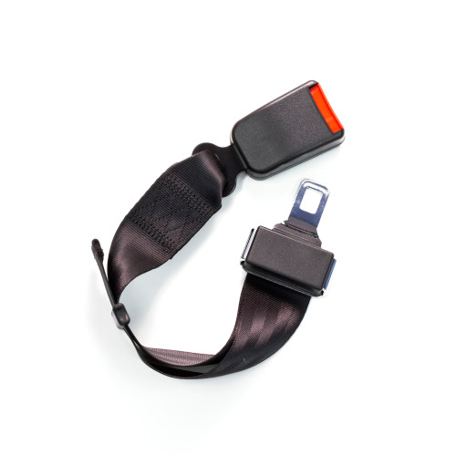 Adjustable Car Seat Belt Extender - black