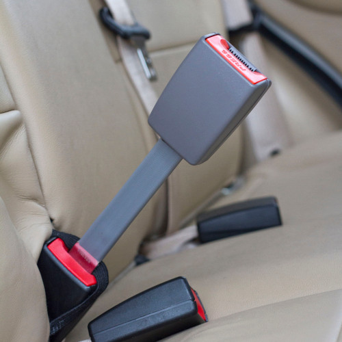 Oldsmobile Car Seat Belt Extender Buckling Up A Plus Size Passenger Gray 7 Rigid Extension Buckled Upright In The Back
