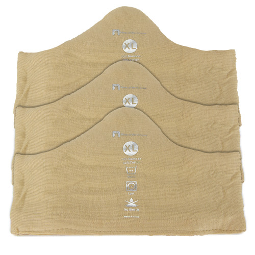 ab6049c94292f ... Deluxe Bamboo More of Me to Love Bra Liner (3-Pack) Beige ...